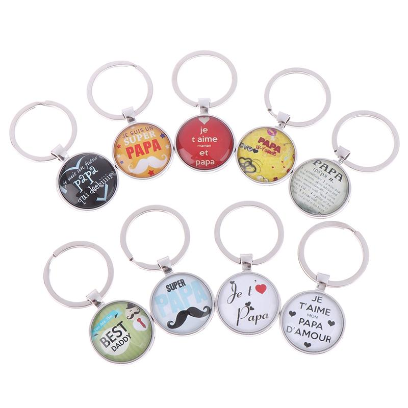 Super Papa Keyring Best Dad Keychains Father Day Gift Keychain