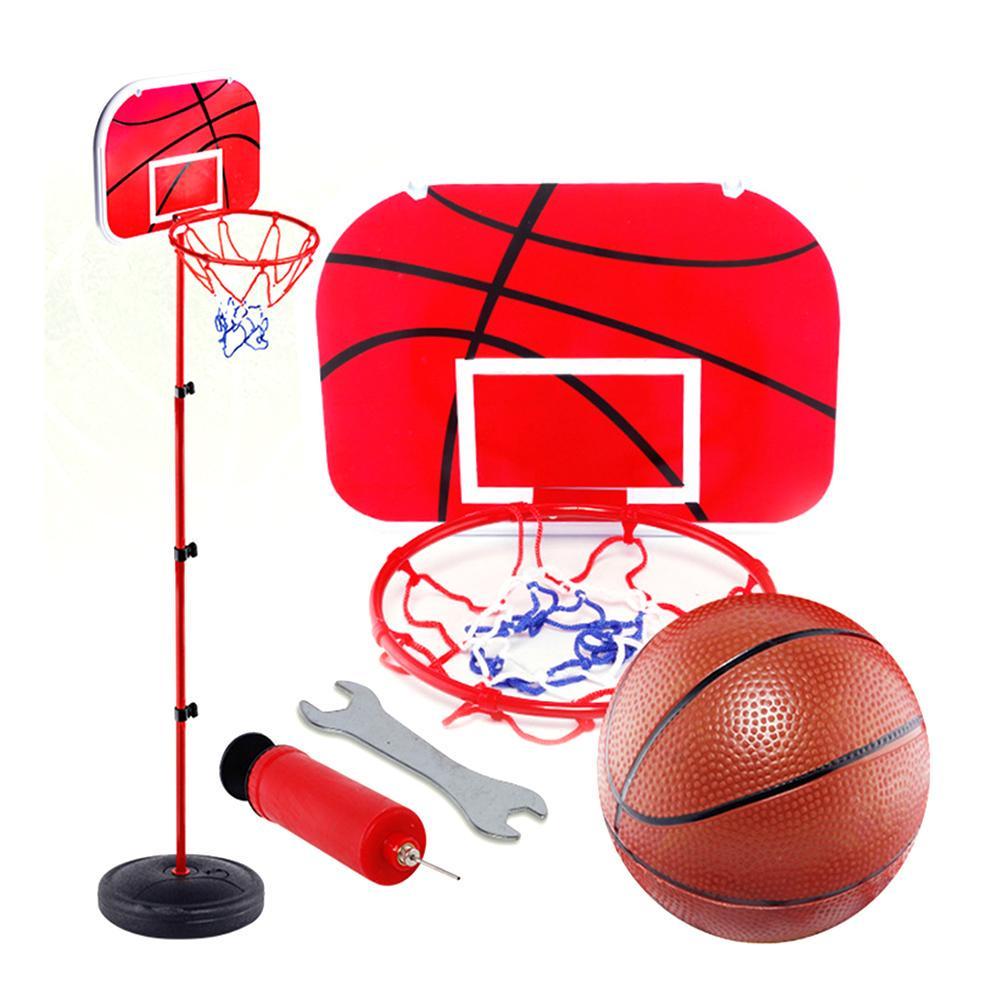 Kids Adjustable Basketball Set Backboard Stand Hoop Hight Toy Indoor Outdoor *