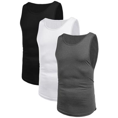 Mens New Summer Fitness Vest Blouse for Leisure Running Training Quick-Dry Sports Tank Top 2019 Tank Tops Deals