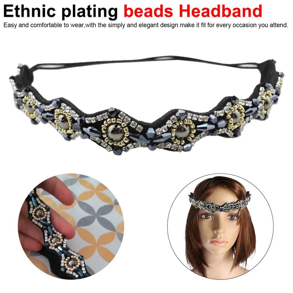 Girls Pearl Hairband Princess Headband Crystal Jewelry Hair Accessories KS