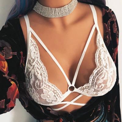 Womens Rose Flower Bralette Lace Push Up Bra Bralet Bustier Tops Bikini Lingerie