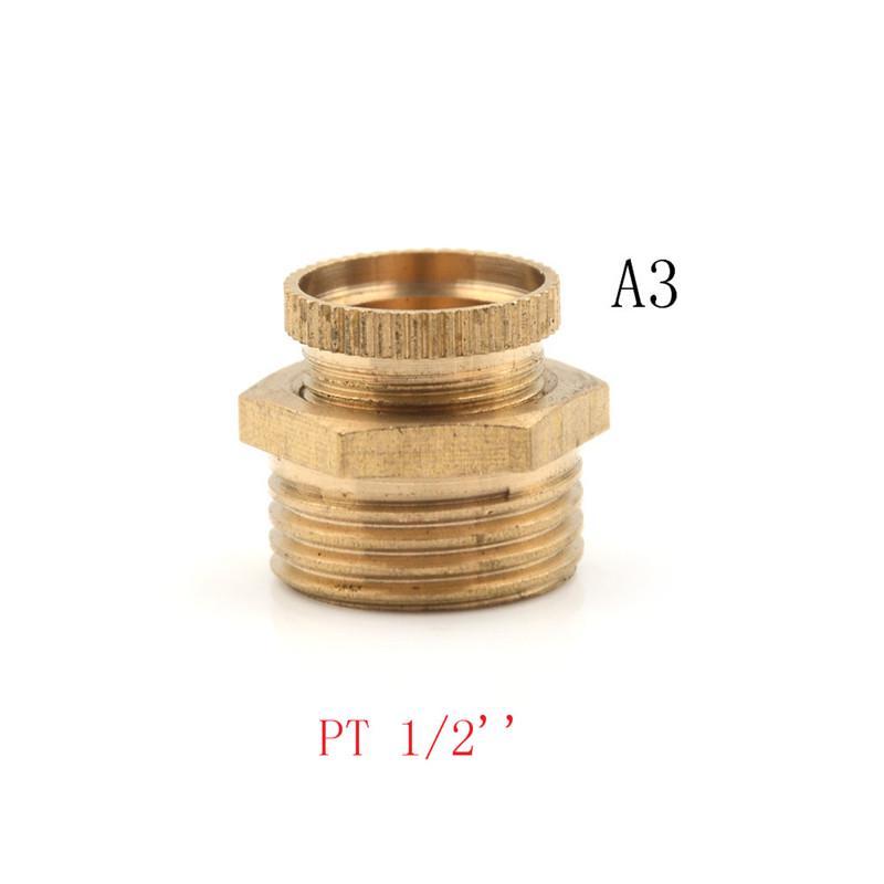 Air Compressor Male Threaded Water Drain Valve Brass Tone PT 1//2/'/' 3//8/'/' 1// WFR