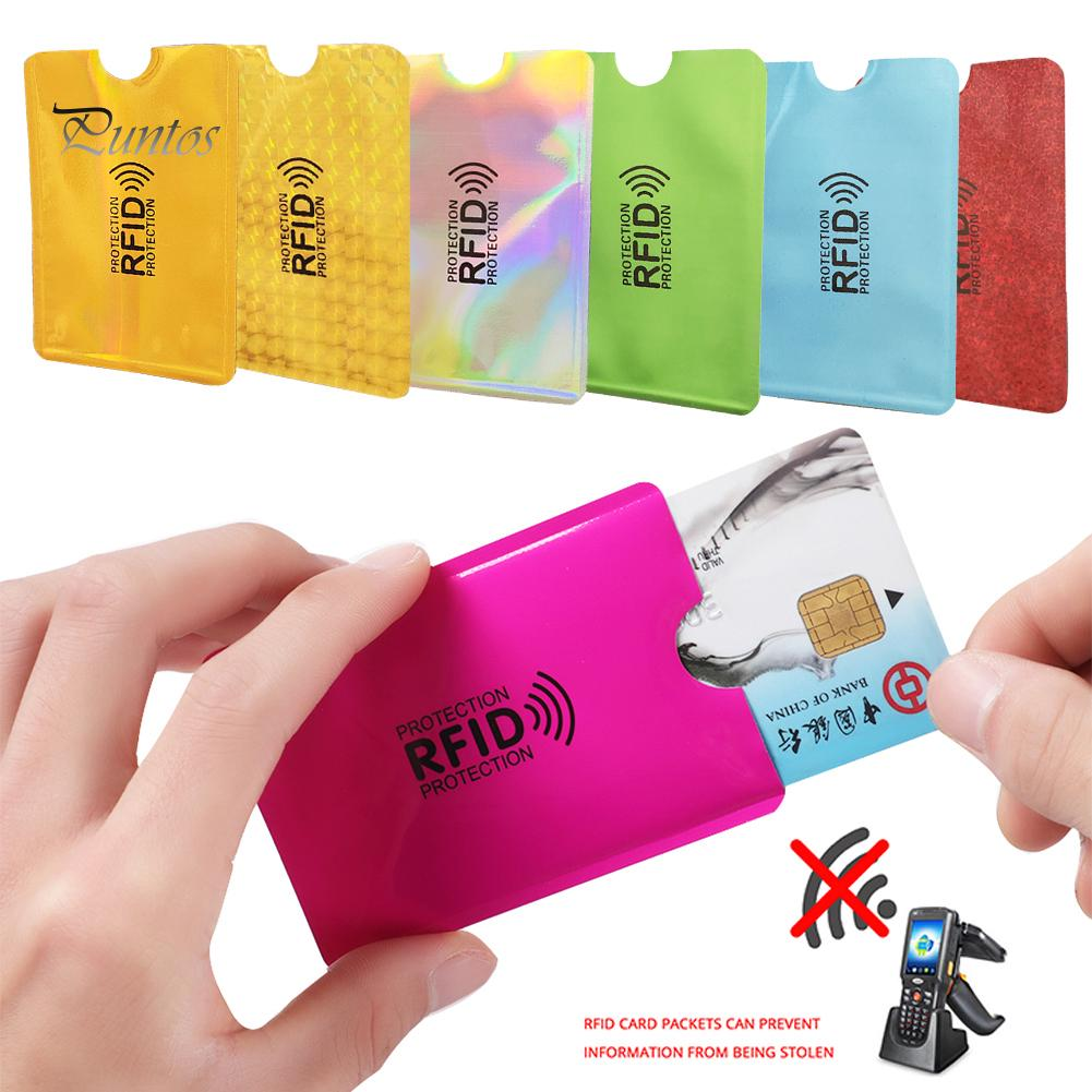 10Pcs For RFID Secure Protect Blocking ID Credit Card Sleeves Holder Case Skin