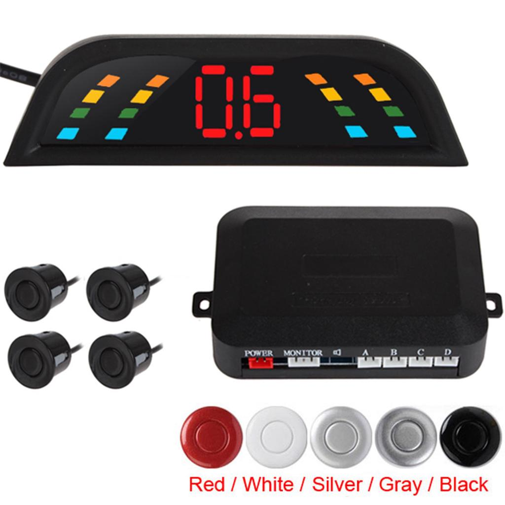 Omnibearing /& Intelligent Parking Assistance System Contain Visual Digital LED Display /& 8 Sensors White