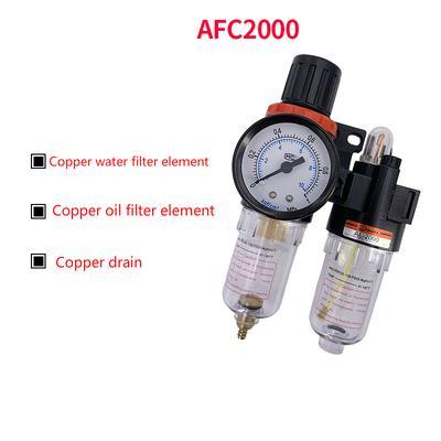 """AFR2000 1//4/"""" Filtro De Aire Compresor Regulador de Humedad Trampa Manómetro"""