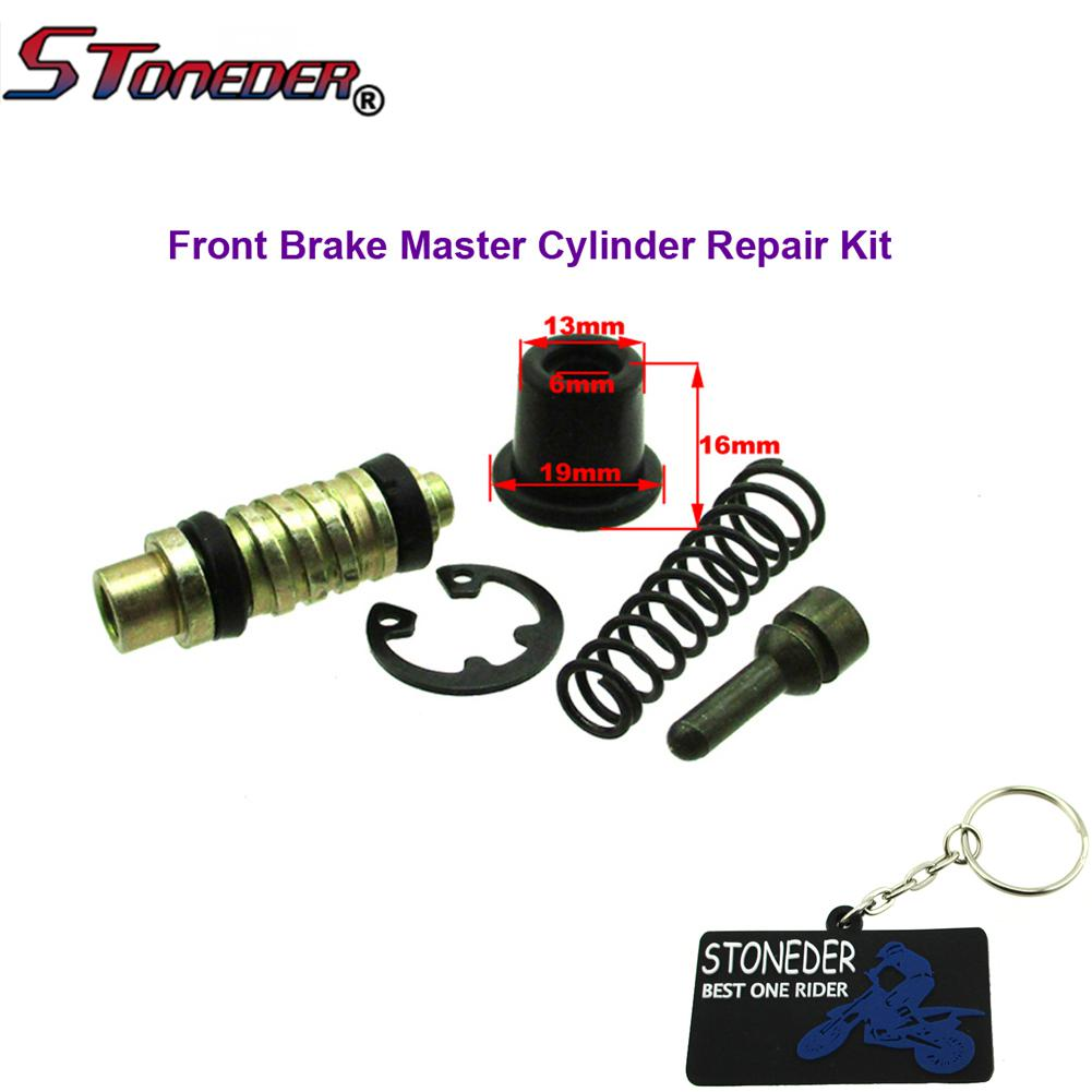 HONDA CR125 CR250 CR500 FULL Front Brake Caliper Piston Kit with Seals and Pads