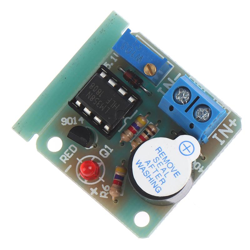 9//12V Anti Over Discharge Low Voltage Protection Module Audible Alarm Buzzer