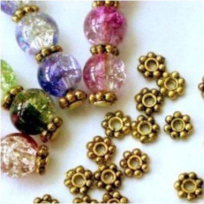 20 x 9 mm Tibétain Argent Flocon De Neige Fleur Métal Daisy Spacer Beads