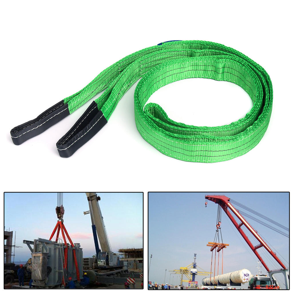 Rated Strap - Lifting Sling 3 Metre Cargo Sling Tow Strap Duplex Webbing Lifting Sling 2 Tonne