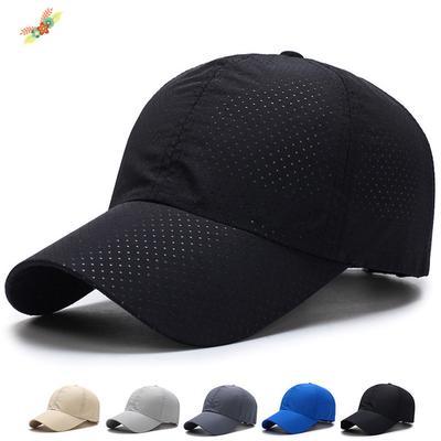 dd4a4a89026844 Outdoor Sport Running Baseball Mesh Hat Men Quick-drying Summer Visor Cap