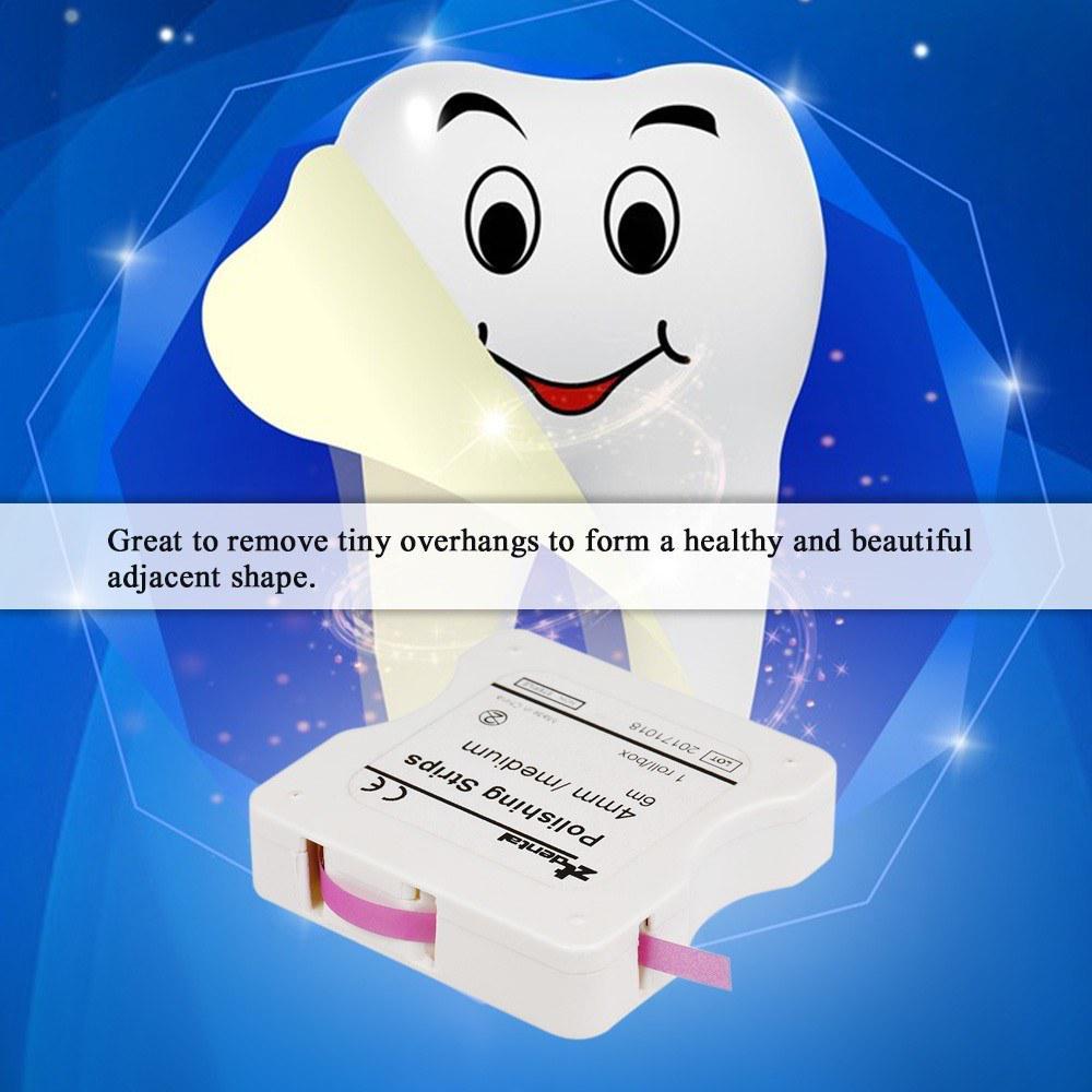 Dental Polishing Strips 4mm //6m Resin Tooth Interdental Sanding Grinding Surface 1 roll//Box Pink
