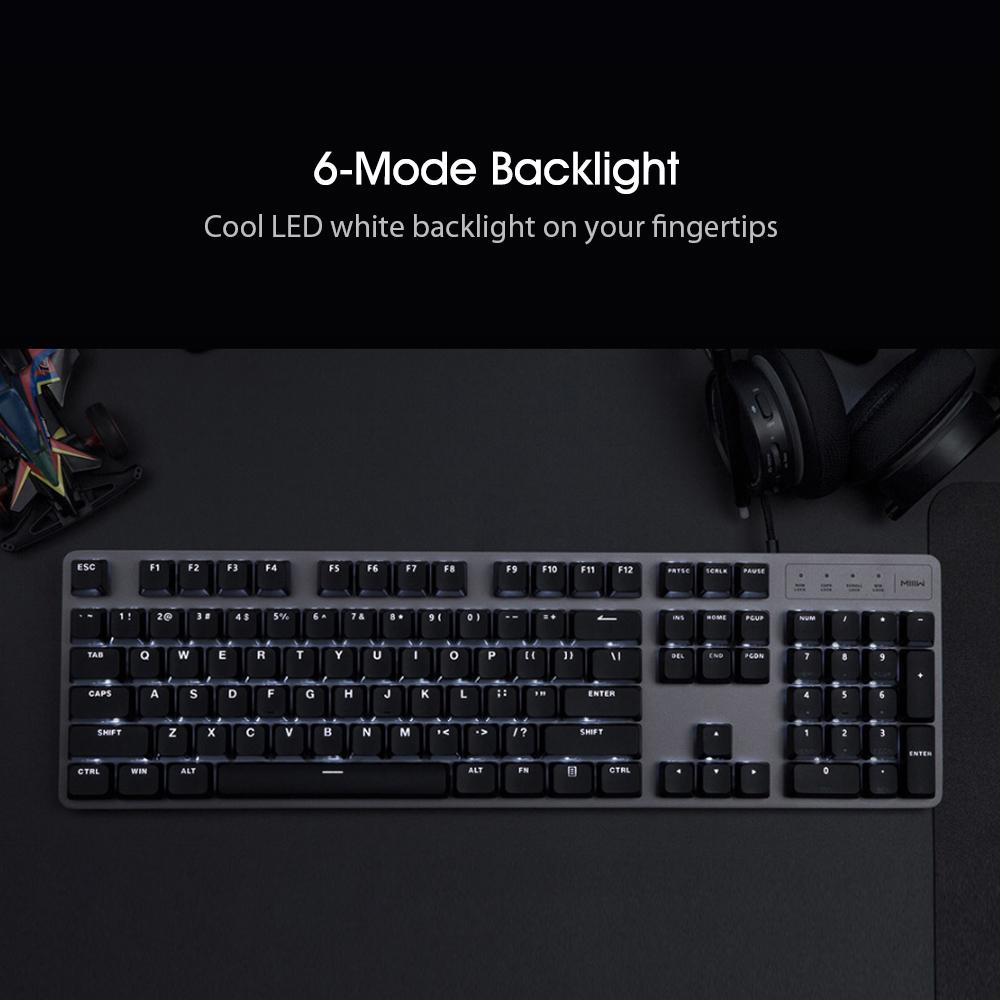 Xiaomi Miiiw Gaming Mechanical Keyboard 600k 104 Keys Red Switch Usb Wired Computer Gamer Backlit Buy At A Low Prices On Joom E Commerce Platform