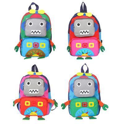 Cute Kid Children Backpack Kindergarten Schoolbag Cartoon Expression Plush Bag