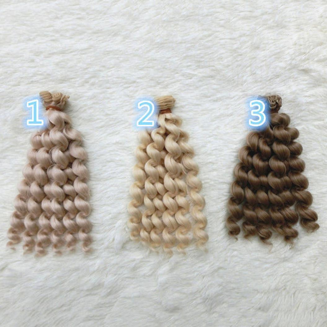 DIY милые Барби BJD SD вьющиеся волосы парик синтетические для кукол 20x100cm