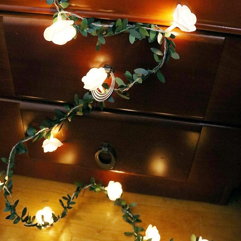 3M Green Leaf Vine Copper Wire Fairy String Light for Indoor Garden Bar Decor
