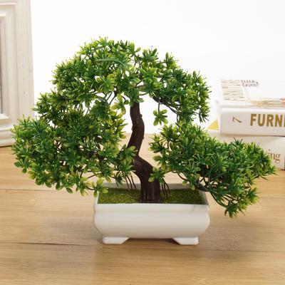 Artificial Planter Plastic Tree Pot Bonsai Home Garden Office Plant Decoration
