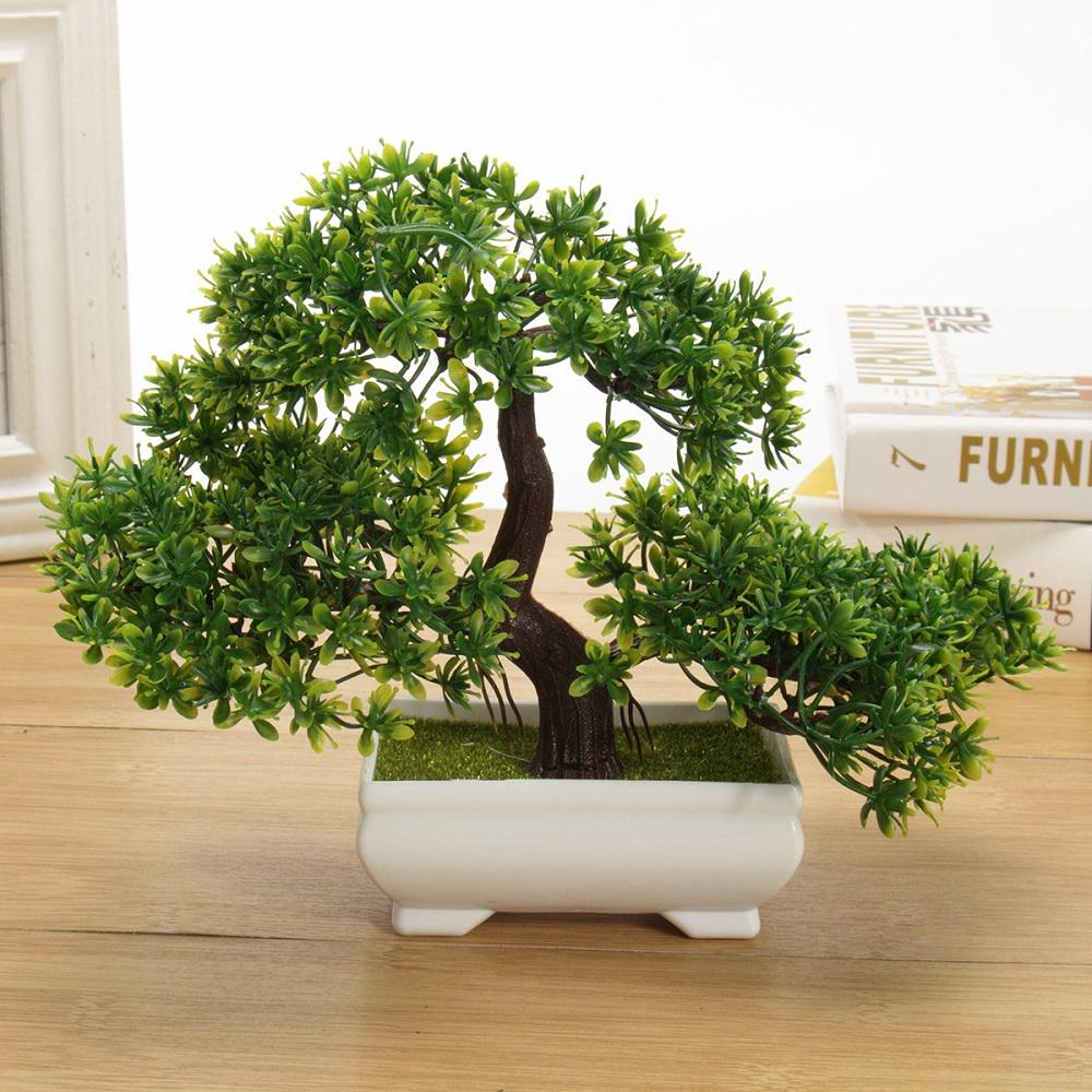 YB Artificial Succulents Set of 4 Mini Realistic Fake Plants Plastic Pots Hom...