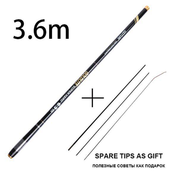 Goture Telescopic Fishing Rods 2//8 Power Carbon Fiber Stream Carp Hand Pole