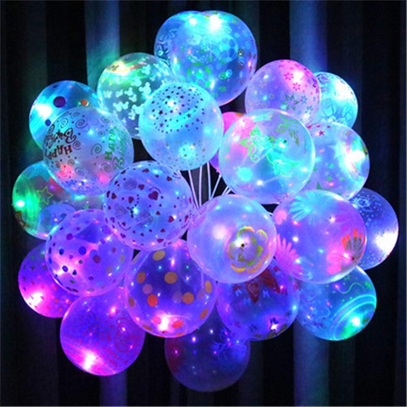 Светодиодный свет вверх шар для Рождества день рождения украшения белая 5шт фото