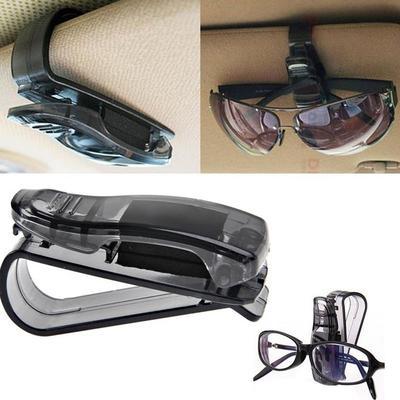 Bling Bling Diamond Sunglasses Eyeglasses Mount with Ticket Card Clip(Silver) N//X Glasses Holders for Car Sun Visor 2 Pack