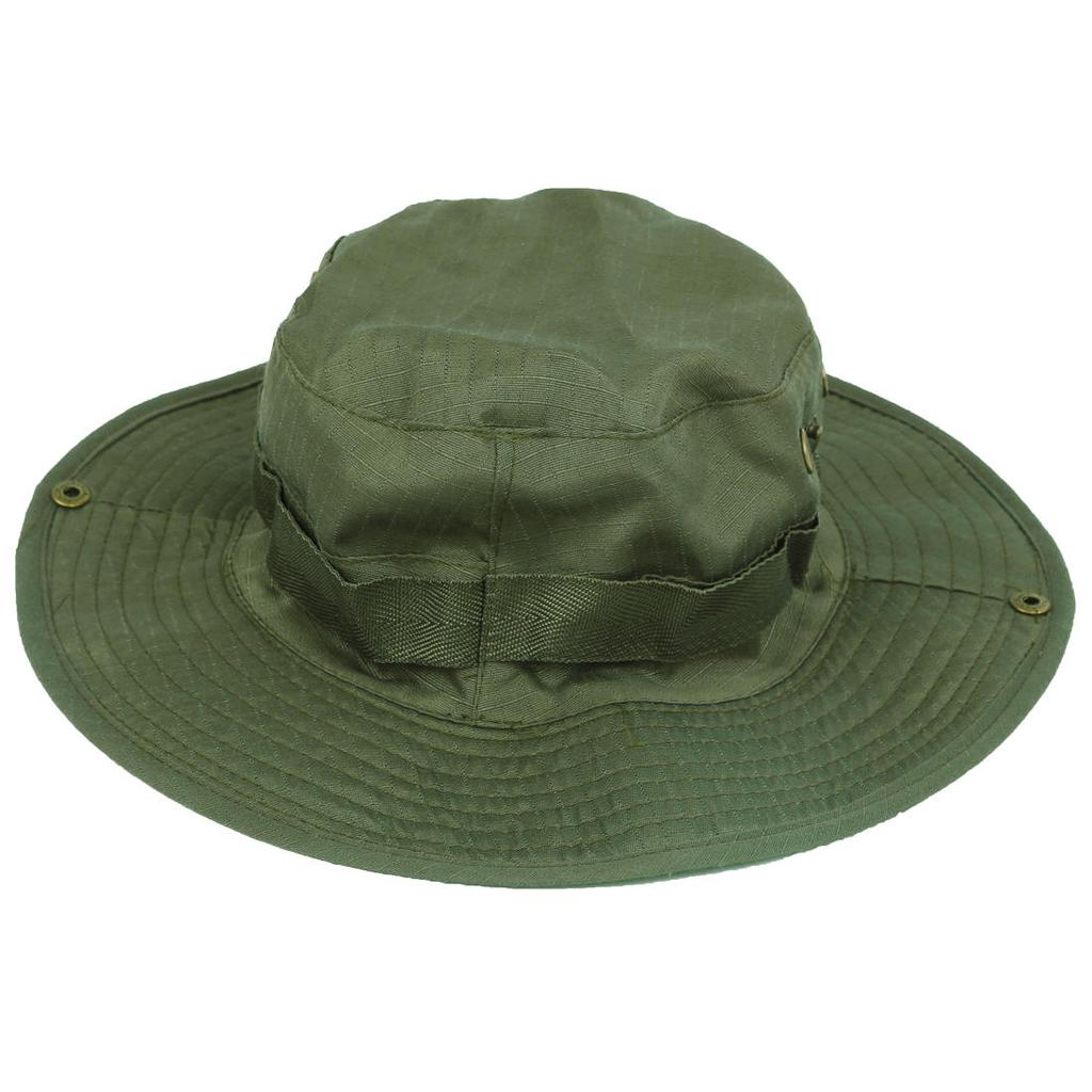 Men Outdoor Hiking Fishing Hats Army Military Sun Round Brim Flap Summer Caps