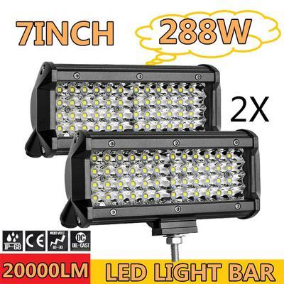 LED Work Light Bar Flood Spot Lights Driving Lamp Offroad Car Truck IP67 6000K