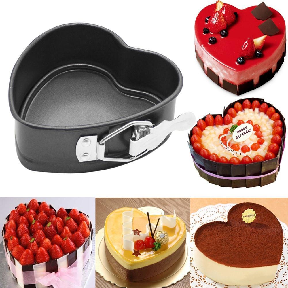 Mini Round Cake Tin Non Stick Spring Form Loose Base Baking Pan Tray