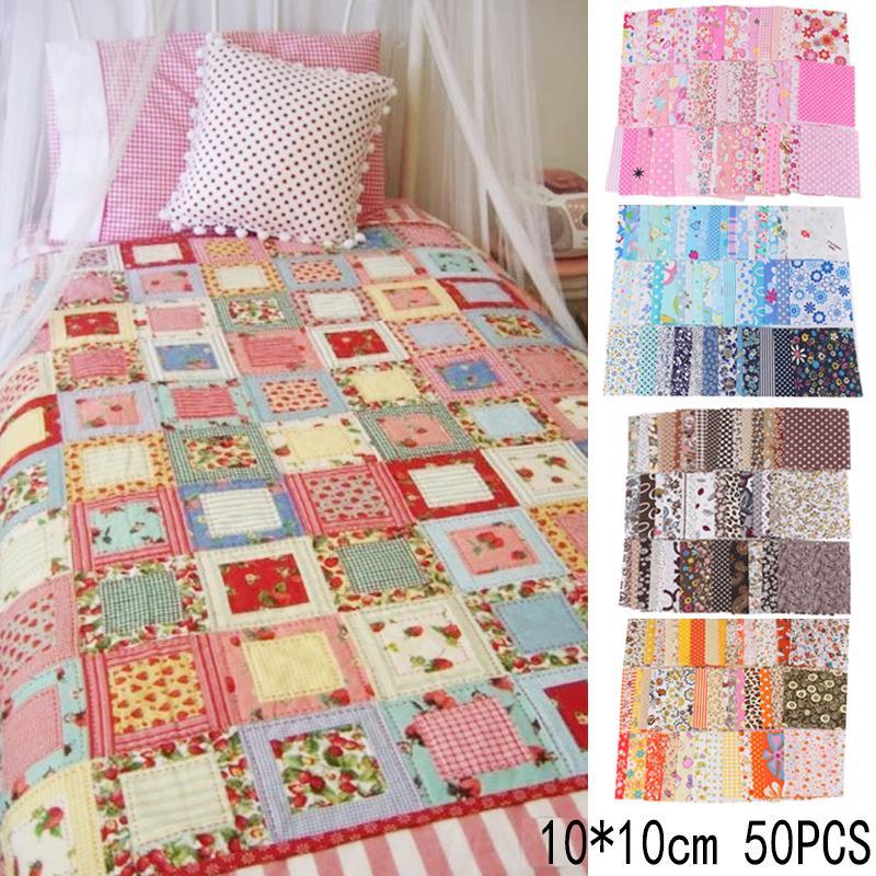 6Pcs//Set Material Pre-Cut Bundle Charm Floral Cotton Quilt Fabric Offcuts Crafts