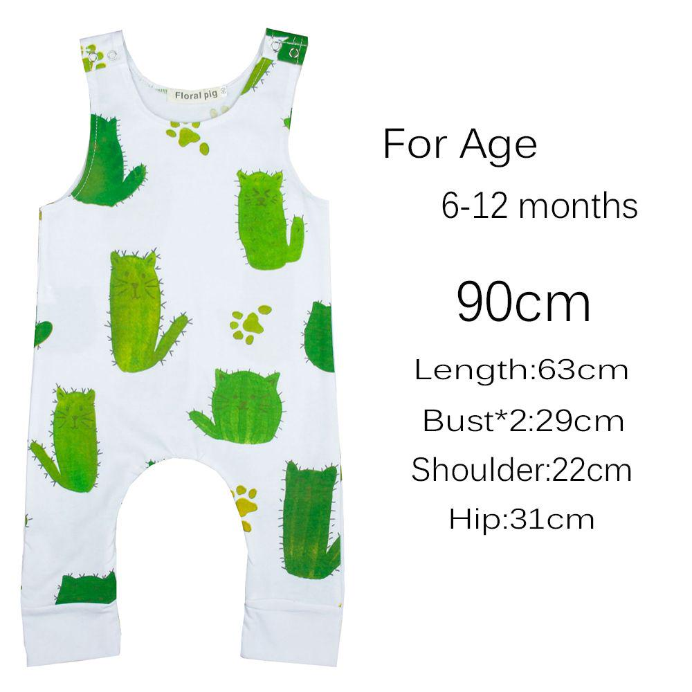 Infant Baby Cactus Romper Girls Boys Clothes Sleeveless Jumpsuit Playsuit