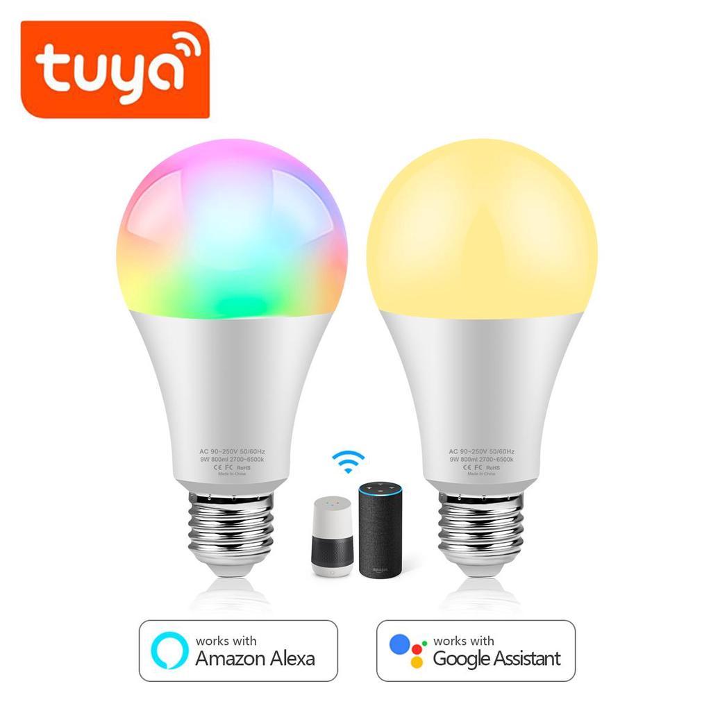 Smart Light Bulb LED WiFi Lamp E27 B22 15W Multicolor for Alexa Google Home RGBW