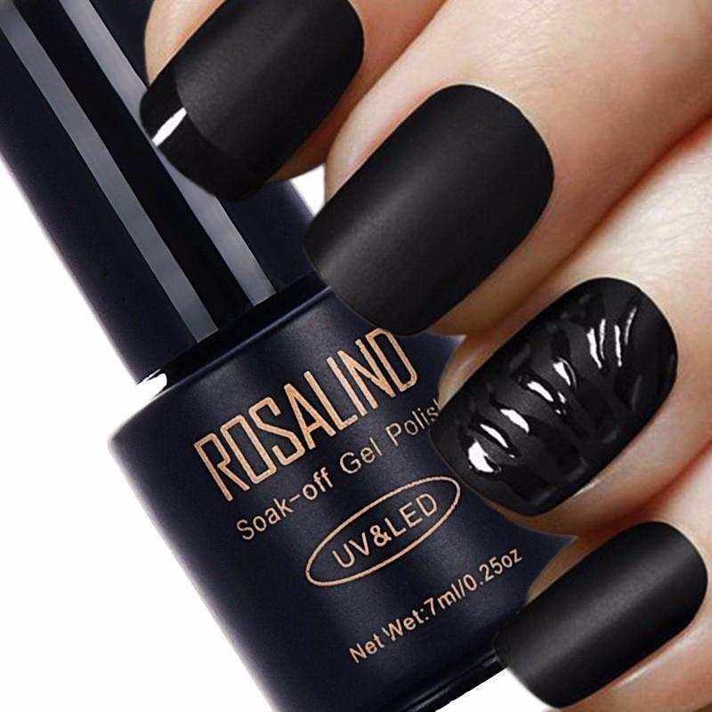 ROSALIND 7ml Top Coat mate esmalte de uñas UV LED uñas Gel esmalte ...