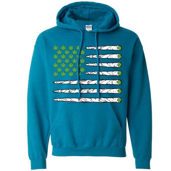 Usa Weed bandera Doobie rayas sudadera con capucha - comprar a ... 3f27aa748a7