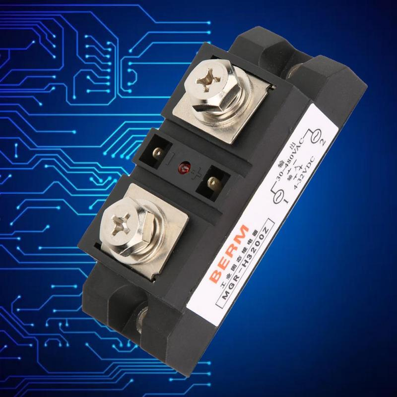 Durable SSR Industrial Solid State Relay H3200Z 4-32VDC 480VAC 200A DC to AC