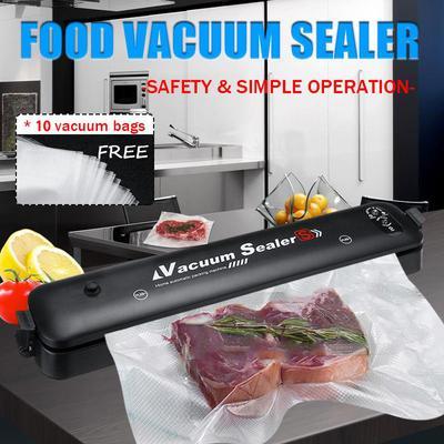 Electric Vacuum Sealing Automatic ABS Machine FreshFood Sealer Kitchen Household