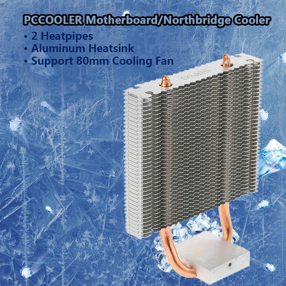 Aluminum Heatsinks with Fan Cooler Heat sink North bridge Processor Black
