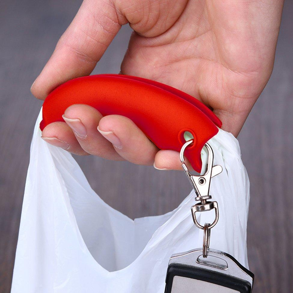 Colorful Silicone Shopping Bag Basket Carrier Grocery Holder Handle Cozy Grip 4