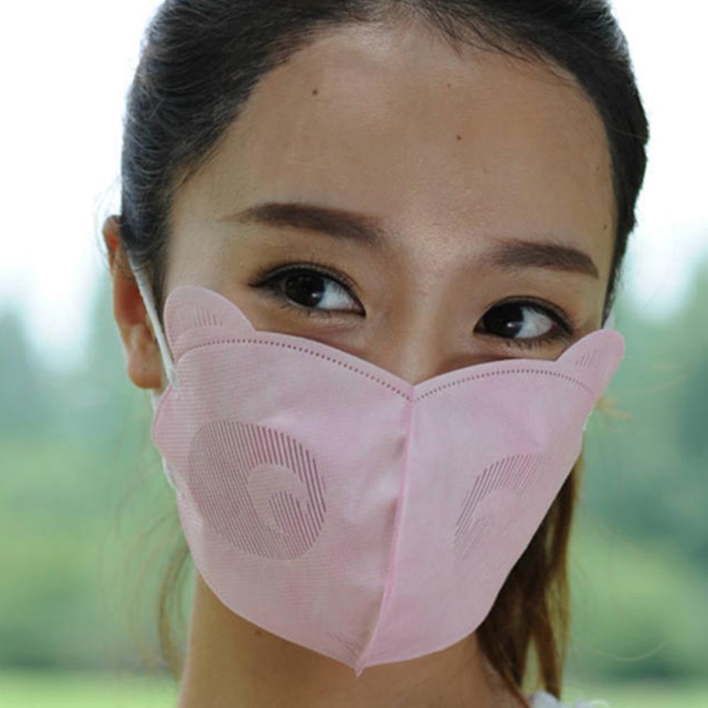 5Pcs Disposable Bear Shape Dust Haze Anti-Fog Earloop Mouth Face Mask Kids//Adult