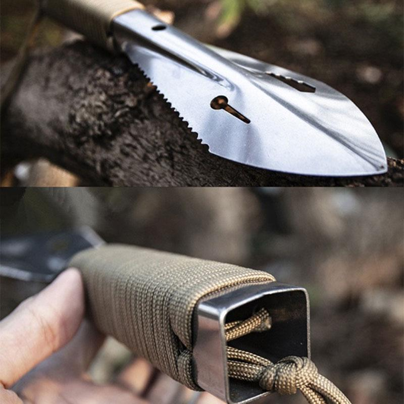 Stainless Steel Outdoor Shovel Spade Multi Tool Weeder Saw Tooth with N8S7