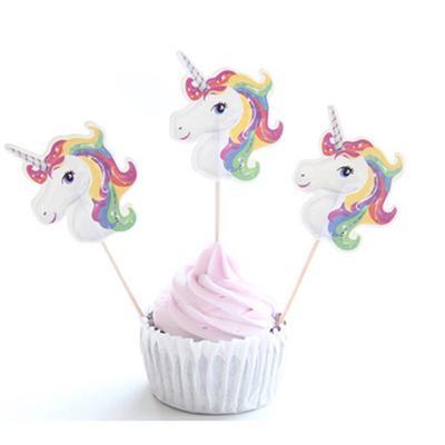 24pcs Princess CupCake Cake Topper Wedding Baby Shower Kids Birthday Party decorations