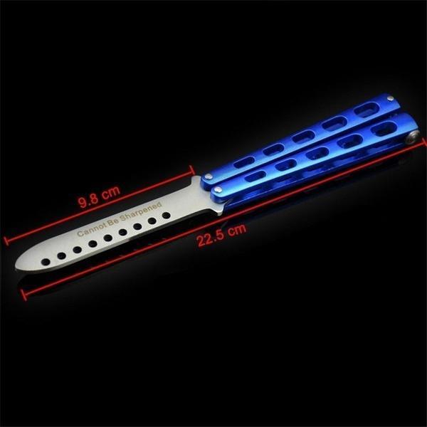 工厂直销美国蝴蝶刀 训练刀 练习刀 蝴蝶甩刀 C34蝴蝶刀练习工具