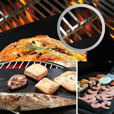 2Roll BBQ Grill Mat Sheet Non-stick Surface Reusable Barbecue Baking Cooking Mat