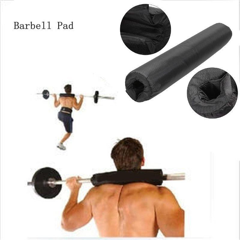 Barbell Pad Gel Supports Squat Olympic Bar Weight Lifting Pull Up Gripper Black