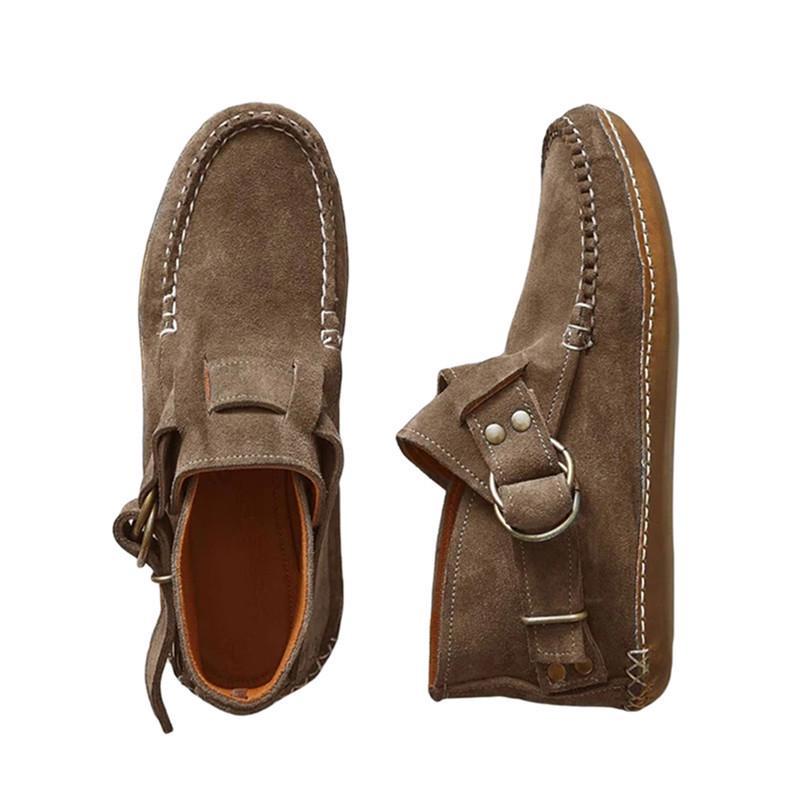 Слип-на обувь женщин плюс размер Модный Антискользя ретро Винтаж Металл Пряжка Обувь – купить по низким ценам в интернет-магазине Joom