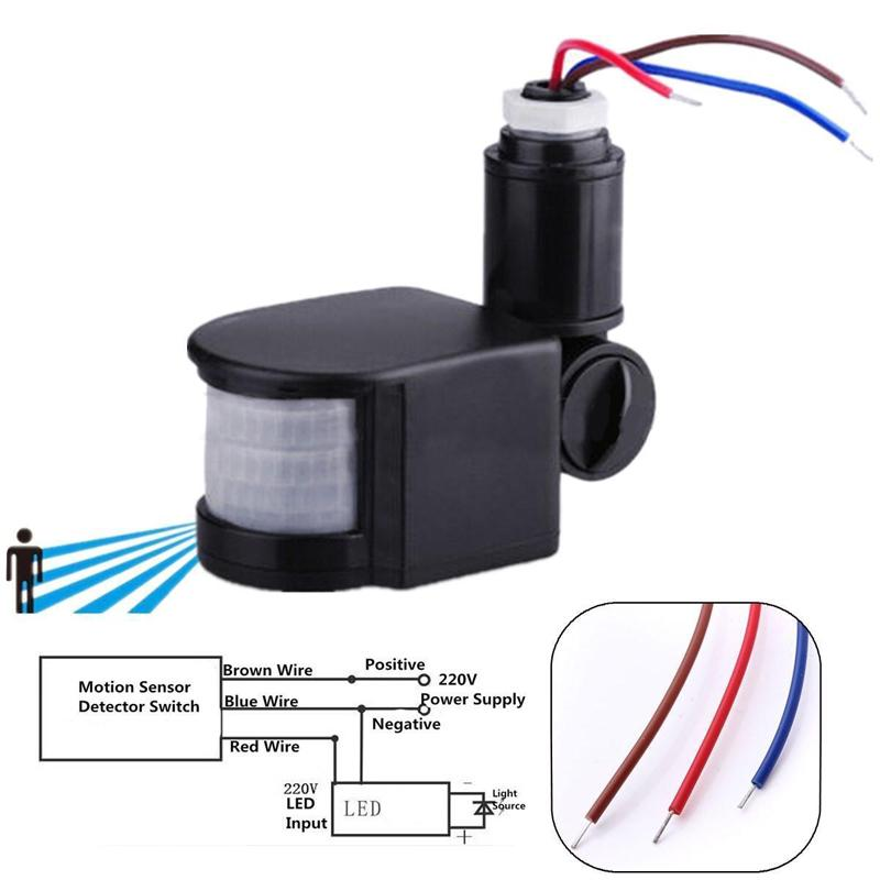 Pdtoweb 110-220V открытый ИК пир датчик настенное детектор света 140 градусов фото
