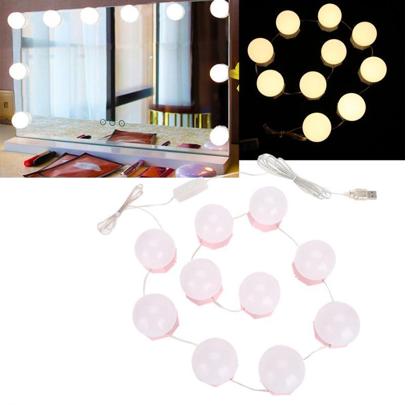 10 Bulbs Vanity Led Makeup Mirror, What Bulbs For Makeup Mirror