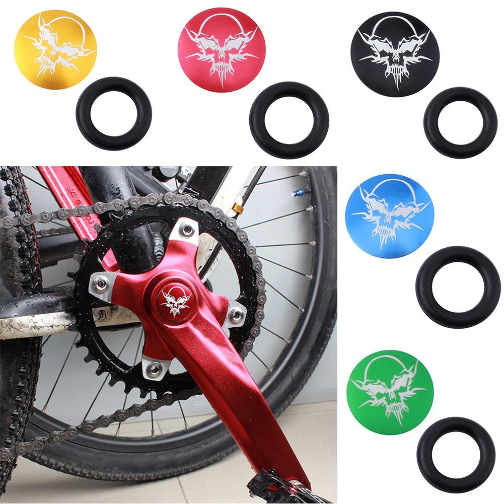 26mm Aluminum Bicycle Crankset Crank  Bottom Bracket Dust Proof Cover Cap Bolt