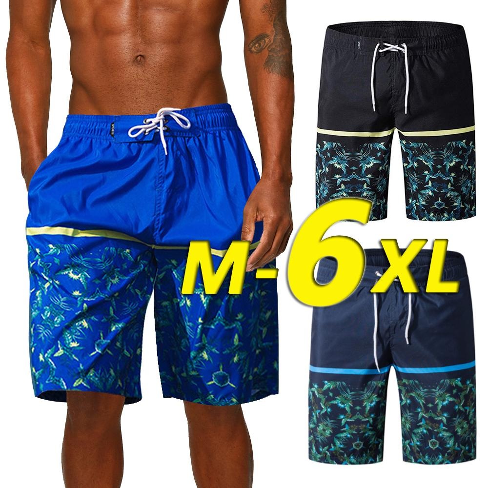 Sebaby Men Pure Colour Drawstring Basic Style Pockets Swimming Watershort