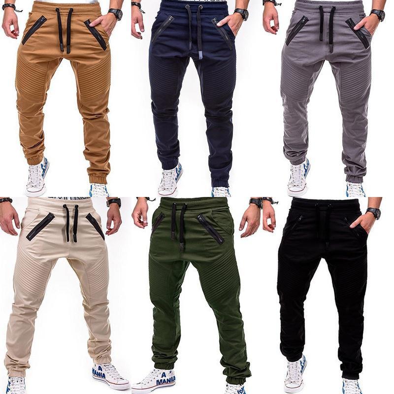 Men/'s Pants Jogger Summer Skinny Cargo Pants Holiday Jogger Elastic Slim Fit