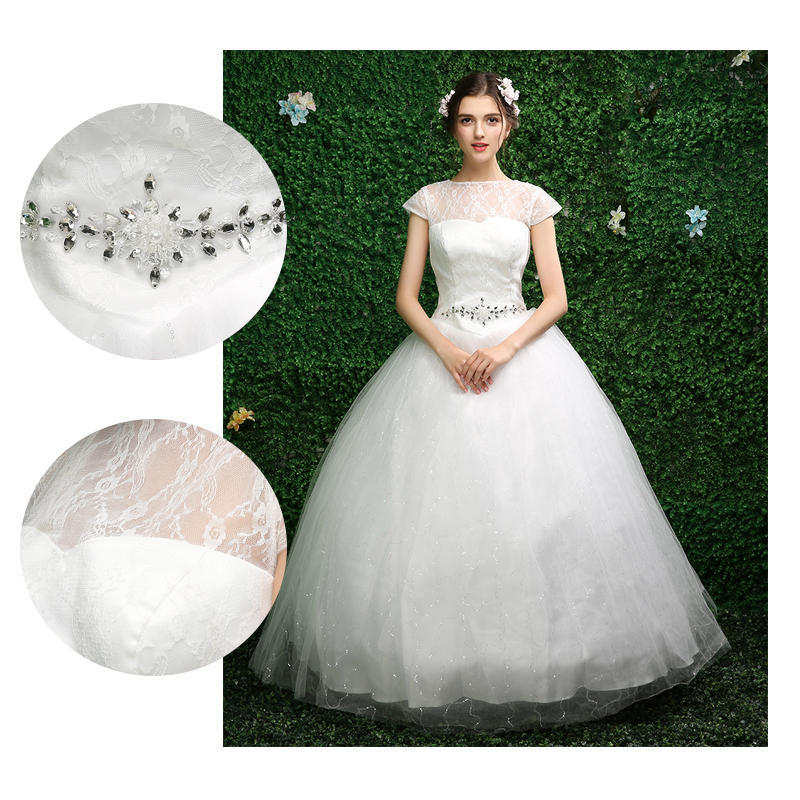 Plus Size Fansmile Korean High Ball Gown Quality Wedding Dresses Bridal  Alibaba Lace Wedding Dress-buy at a low prices on Joom e-commerce platform 1b115ef08031