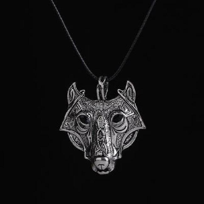 Vintage steel Wolf Animal Head Pendentif Chaîne Collier Cadeau Homme Rétro Bijoux